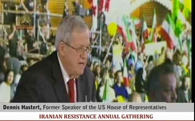Denis Hastert Maryam Rajavi