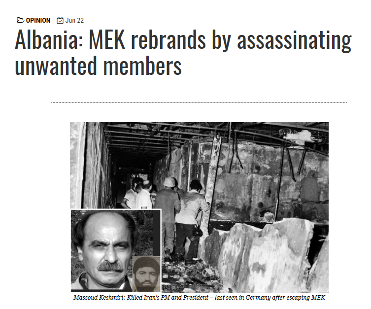 Maryam Rajavi MEK rebrands by assassinating unwanted members