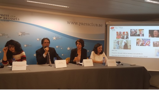 Anne Khodabandeh Reza Jabali Edward Termado Brussels Press Club 2018