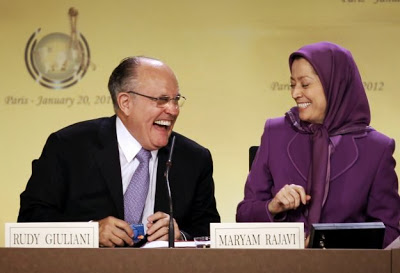 Rudy Giuliani with MEK leader Maryam Rajavi