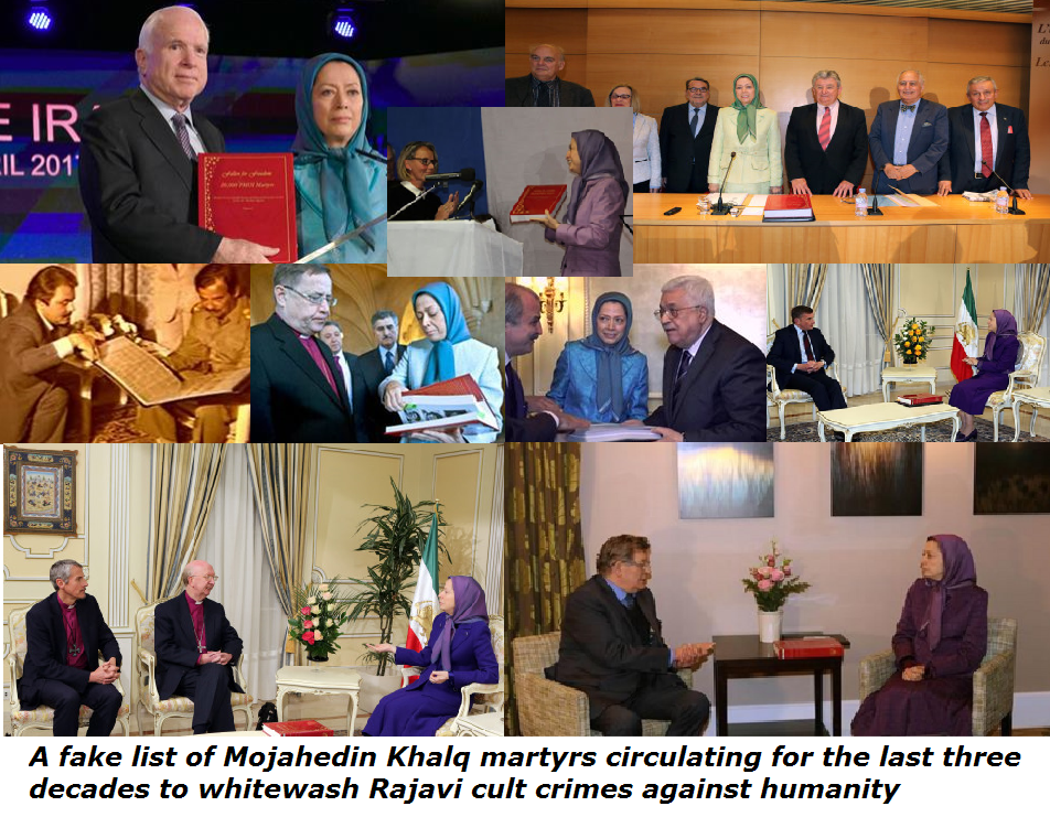 List-of-Mojahedin-Khalq-martyrs-Massoud-Maryam-Rajavi-MEK-fiction-fake