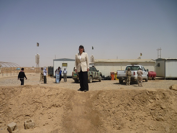 Anne Singleton from Iran-Interlink visits Camp New Iraq (Formerly Ashraf) in wake of violence by loyalists of the Rajavi cult