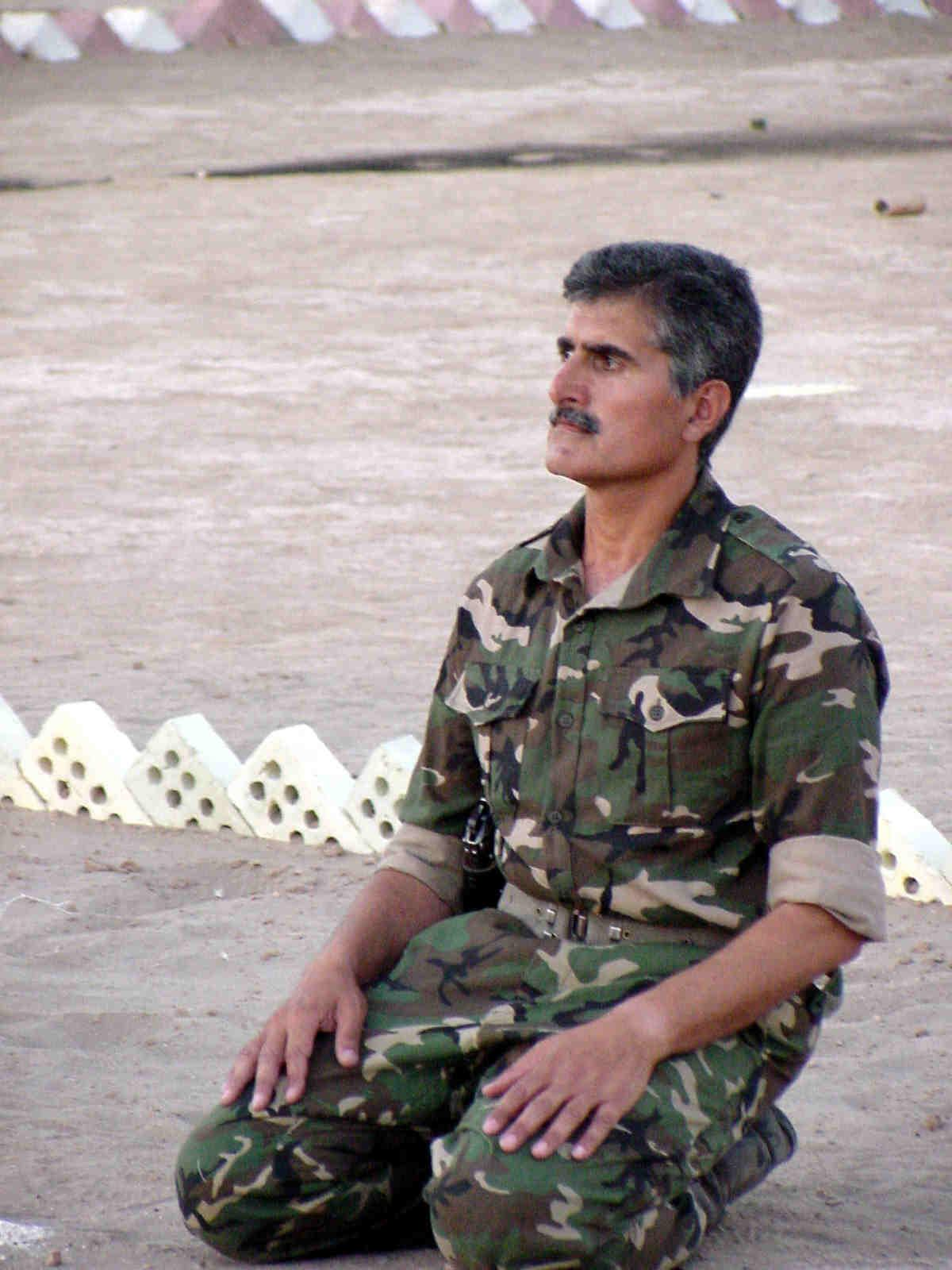 Ali Safavi as the commander of Saddam's Private Army in Camp Ashraf Iraq