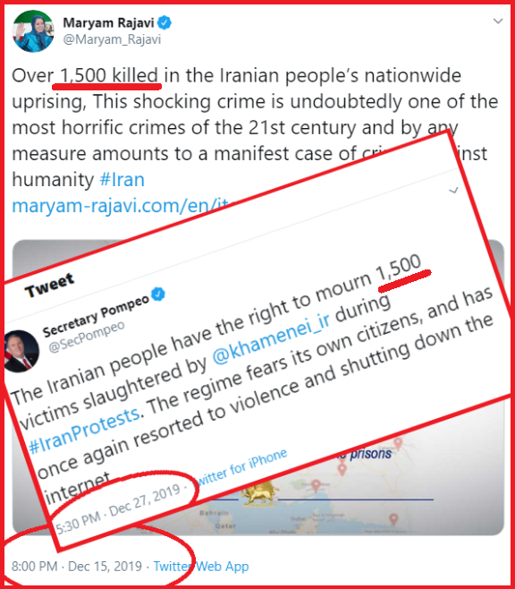 1500 Victims Pompeo Uses MEK Fabrications
