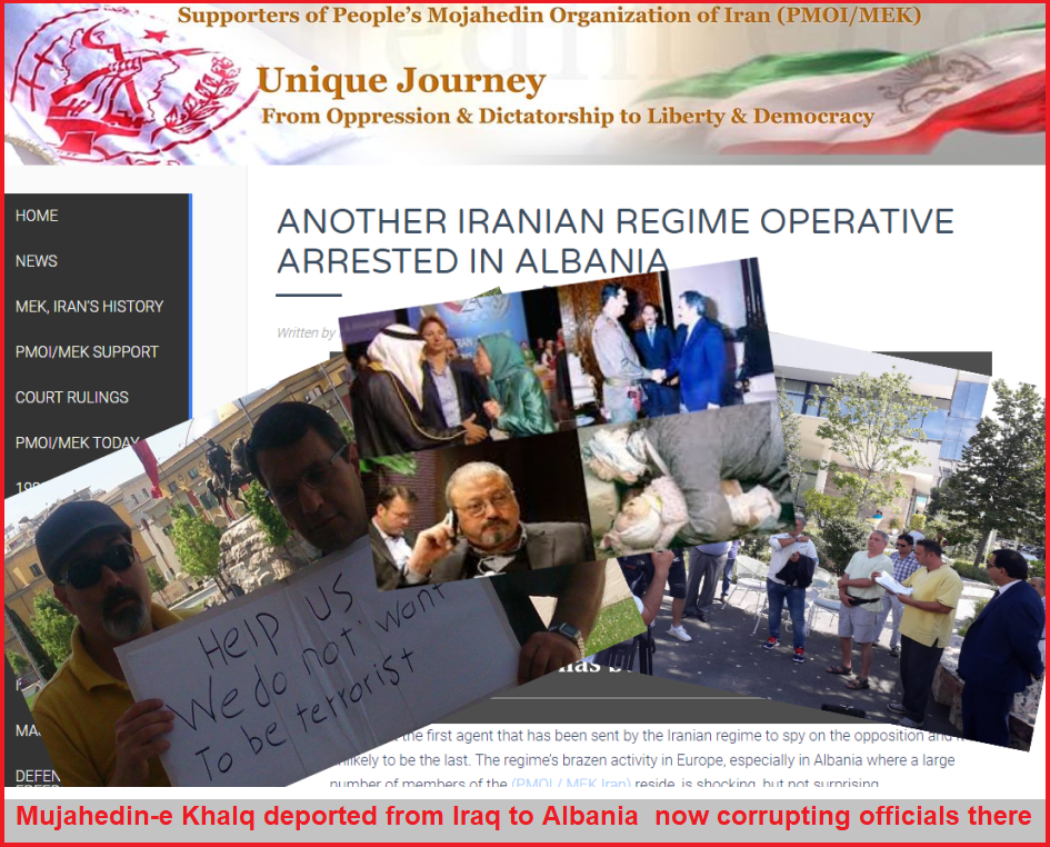 Albanian police as Deputies of terrorist Rajavi