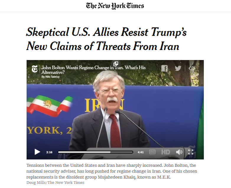 Bolton's Alternative is M.E.K. Mujahedeen Khalq