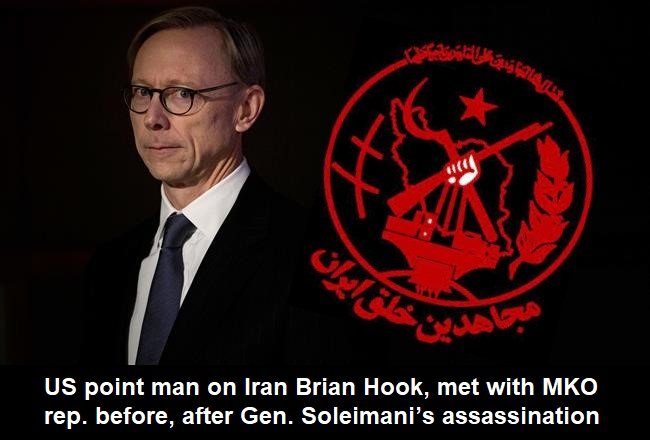 Brian Hook Met MKO Rep. Before And After Soleimani's Assassination