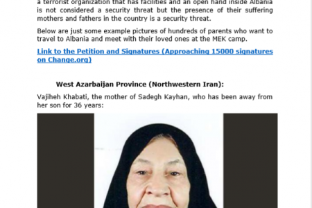 Families of Mojahedin-e Khalq (MEK) camp in Albania demand access to their loved ones