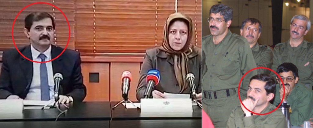 """Farid Totounchi (Real name: Mahoutchi)Commander of Saddam's Private army forcing Somayeh Mohammadi to do a """"Forced confession"""" session in Terror camp in Albania"""