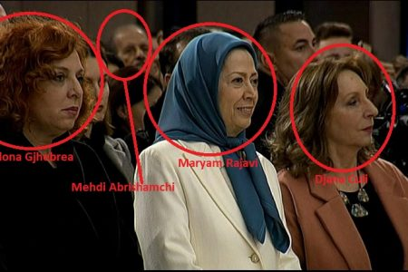 Iranian MEK Jihadis at Christmas Mass in Tirana like Pontius Pilate Who Crucified Jesus Christ