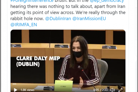 Irish Member of the European Parliament Clare Daly