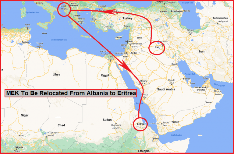 MEK Can Be Relocated From Albania to Eritrea