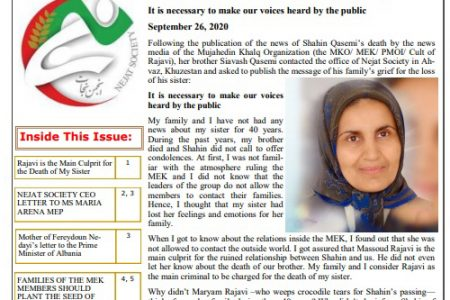 MEK Families Demand Access Newsletter