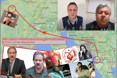#MaryamRajavi #MehdiAbrishamchi Smuggled #HadiSaniKhalni to France. for false flag operation