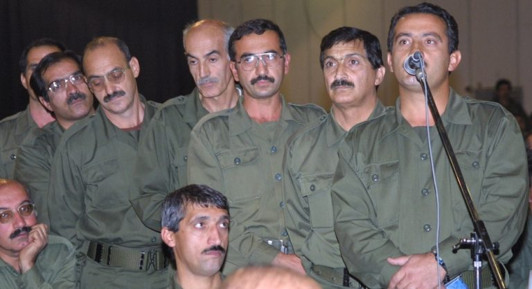 Maryam Rajavi told them that 'the regime is now ruined, we clearly see signs and symptoms of overthrow of the regime