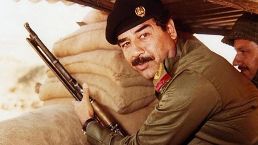 Saddam Hussein Iran-Iraq war 1980s. Credit: Wikipedia