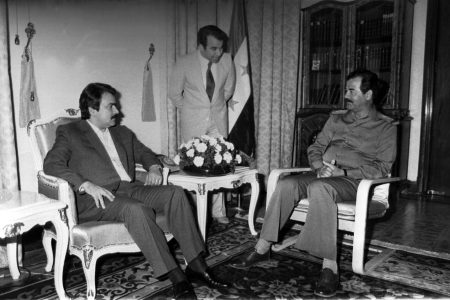 Massoud Rajavi Saddam Hussain