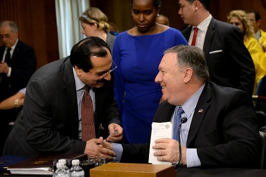 Pompeo and MEK isolated by response to pandemic