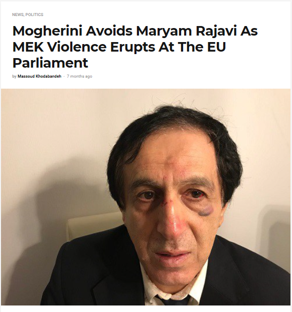 Mogherini Avoids Maryam Rajavi As MEK Violence Erupts At The EU Parliament
