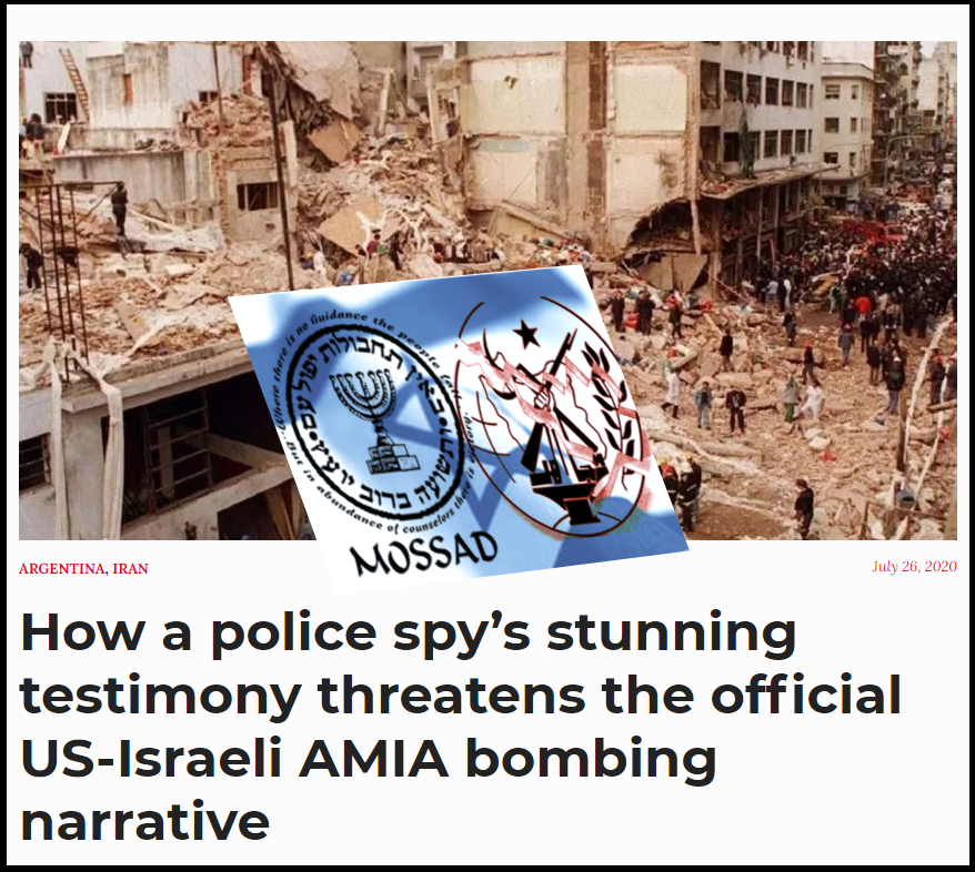 Mossad info, MEK sources – Resorting to bribery, to blame Iran for AMIA