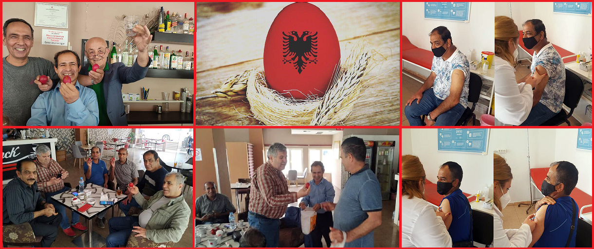 Red dyed eggs symbol of new life for MEK defectors
