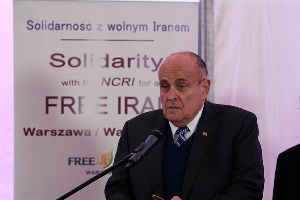 Rudy_Giuliani_Warsaw_Poland_MEK_Rajavi_Cult_Saddam_Private_Army