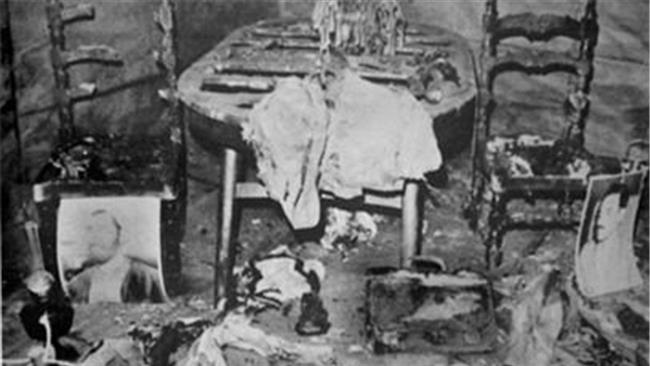 bomb blast at the office of Iran's then-prime minister in Tehran, August 30, 1981