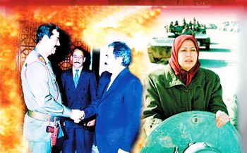 Massoud Rajavi and Saddam Hussain