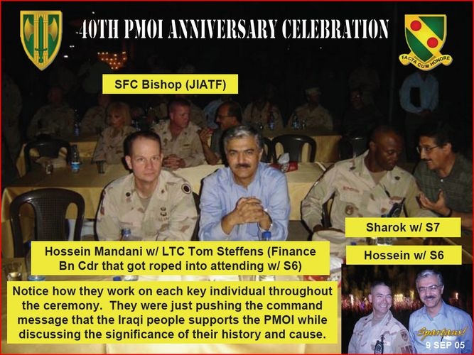 MEK terrorists backed by USA in Iraq